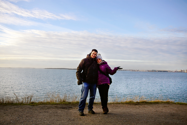 Surviving Europe: 5 Days Discovering the Best of Helsinki in the Winter - Us in Suomenlinna fortress