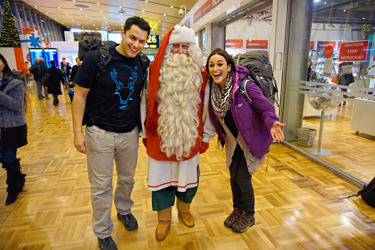 Surviving Europe: 5 Days Discovering the Best of Helsinki in the Winter - Meeting Santa in Helsinki Airport