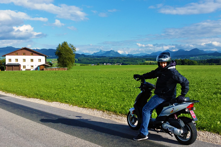 Surviving Europe: Adventures as an Expat Buying a Car Abroad - Scooting in Austria