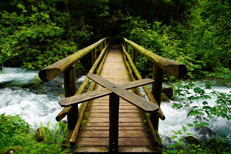Surviving Europe: Salzburg Day Trips - Finding Paradise at Golling Waterfall - Bridge
