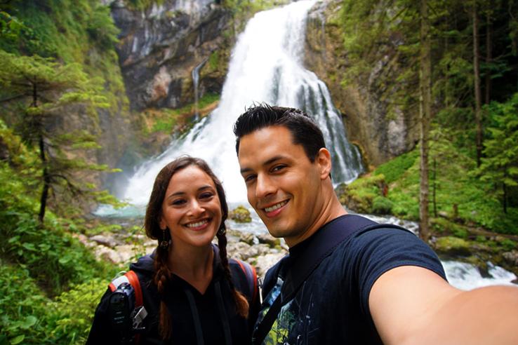 Surviving Europe: Salzburg Day Trips - Finding Paradise at Golling Waterfall - Golling Waterfall Selfie