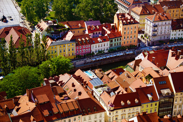 Surviving Europe: 48 Hours Discovering the Best of Ljubljana and Lake Bled - Ljubljana Overhead