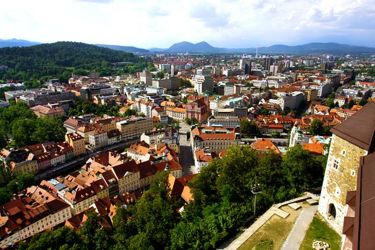 Surviving Europe: 48 Hours Discovering the Best of Ljubljana and Lake Bled - Ljubljana Castle Views