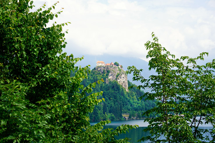 Surviving Europe: 48 Hours Discovering the Best of Ljubljana and Lake Bled - Bled Castle from Bled Island