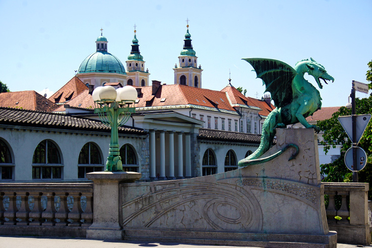 Surviving Europe: 48 Hours Discovering the Best of Ljubljana and Lake Bled - Dragon Bridge