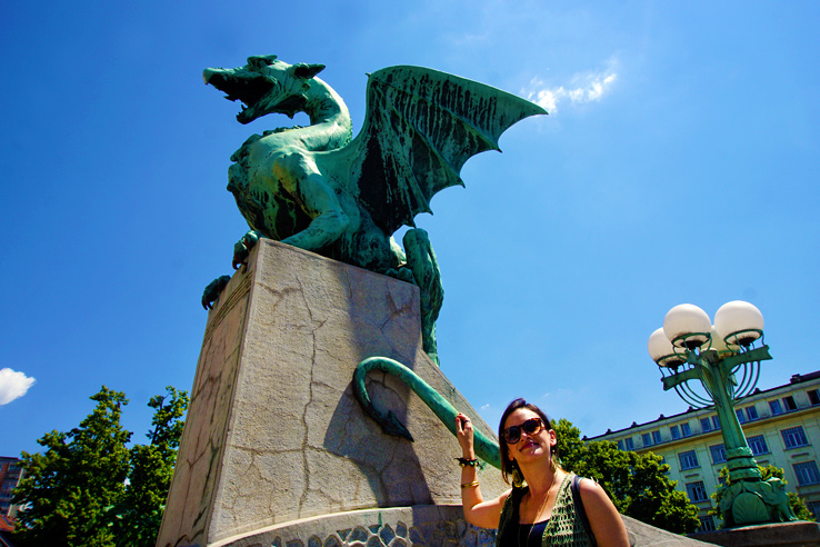 Surviving Europe: 48 Hours Discovering the Best of Ljubljana and Lake Bled - Dragon Bridge Tail