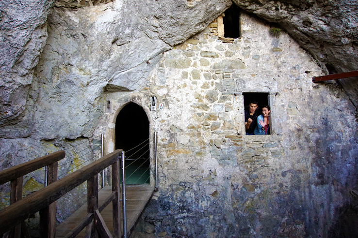 Surviving Europe: Adventures in Slovenia: Postojna Cave and Predjama Castle - Predjama Castle Cave