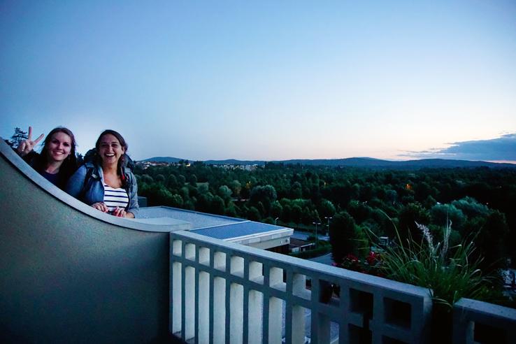 Surviving Europe: Adventures in Slovenia: Postojna Cave and Predjama Castle - Hotel Jama Balcony