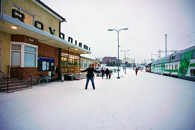 Surviving Europe: We Met Father Christmas at Santa Claus Village in Rovaniemi Finland - Arrive at Rovaniemi
