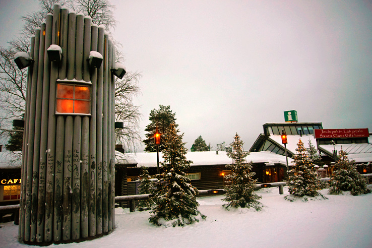 Surviving Europe: We Met Father Christmas at Santa Claus Village in Rovaniemi Finland - Snowy Village