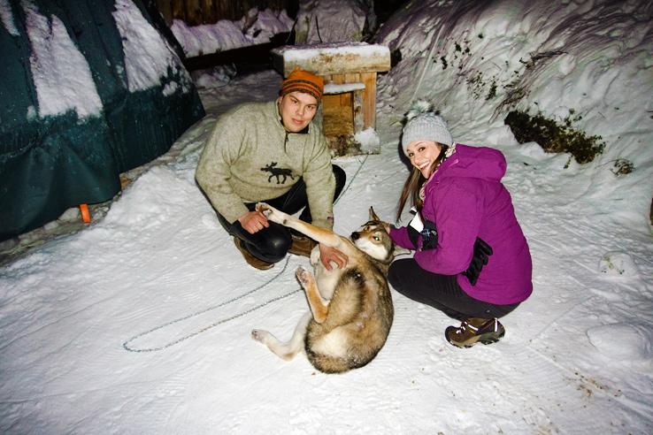 Surviving Europe: We Met Father Christmas at Santa Claus Village in Rovaniemi Finland - Dog