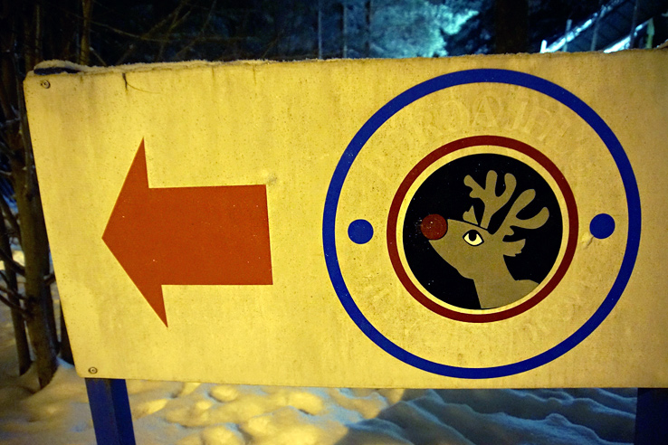 Surviving Europe: We Met Father Christmas at Santa Claus Village in Rovaniemi Finland - Reindeer Sign