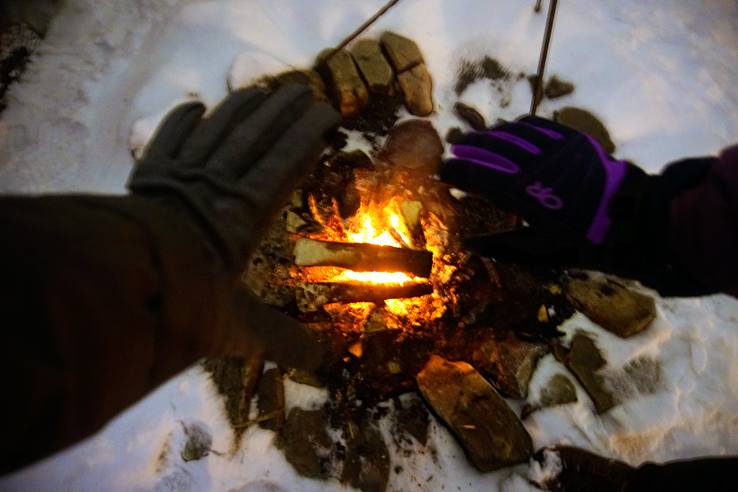Surviving Europe: We Met Father Christmas at Santa Claus Village in Rovaniemi Finland - Warm Fire