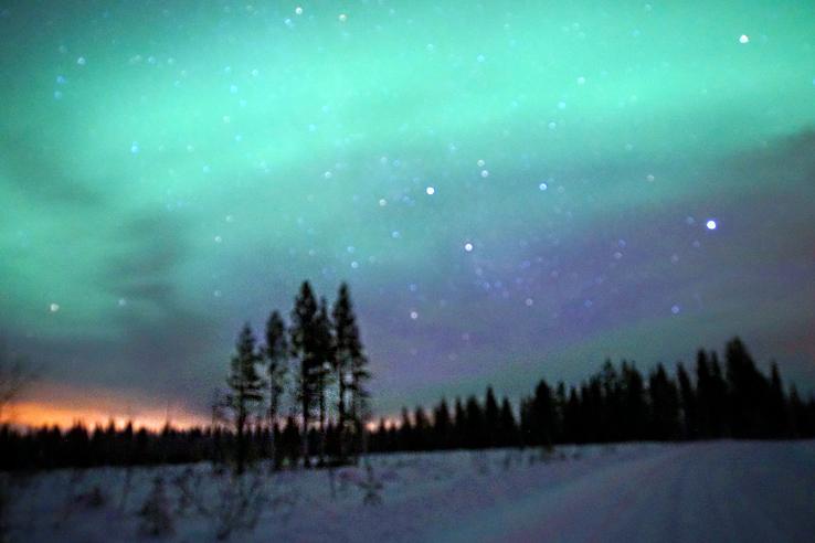 Surviving Europe: We Met Father Christmas at Santa Claus Village in Rovaniemi Finland - Northern Lights 2