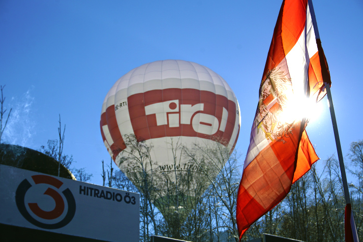 Surviving Europe: Hahnenkamm World Cup Ski Race in Kitzbuhel Austria - Tirol Hot Air Balloon