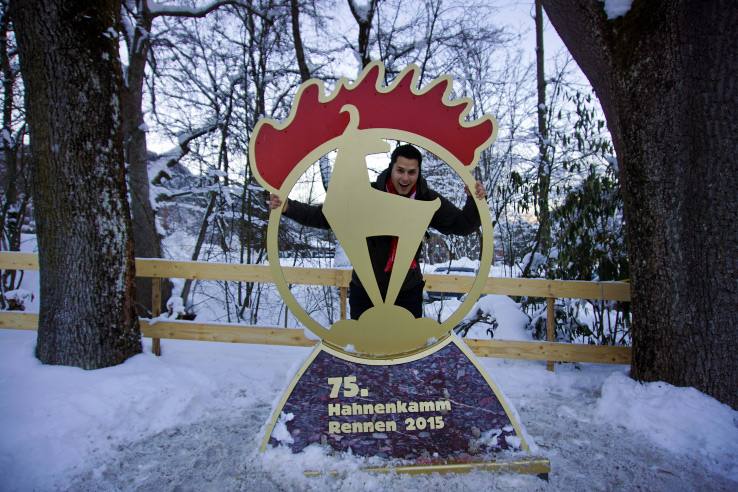 Surviving Europe: Hahnenkamm World Cup Ski Race in Kitzbuhel Austria - Trophy