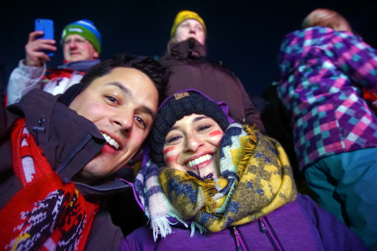 Surviving Europe: Hahnenkamm World Cup Ski Race in Kitzbuhel Austria - Trophy Selfie