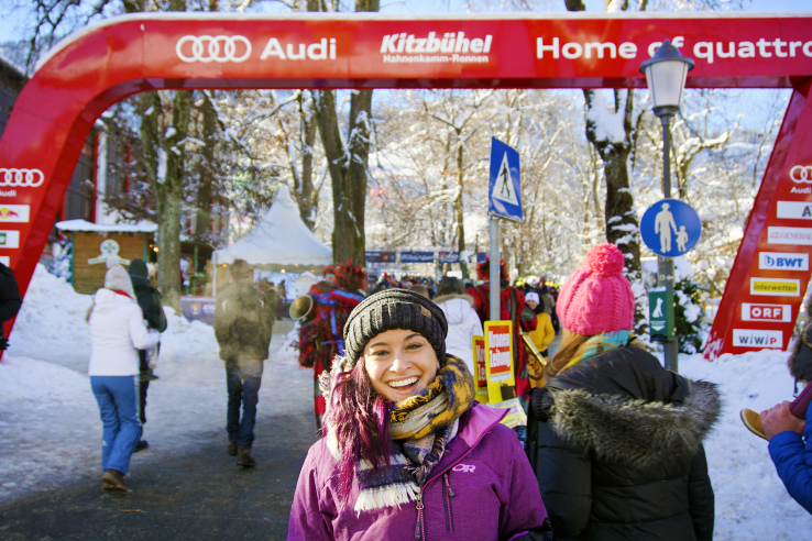 Surviving Europe: Hahnenkamm World Cup Ski Race in Kitzbuhel Austria - Race Entrance