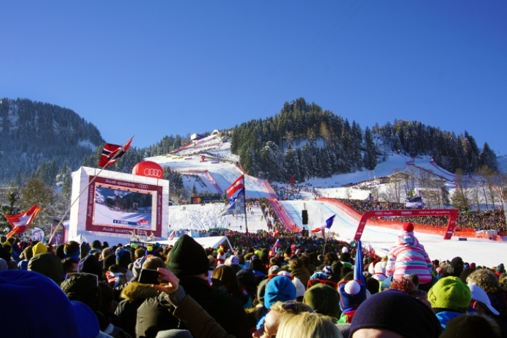 Surviving Europe: Hahnenkamm World Cup Ski Race in Kitzbuhel Austria - The Race