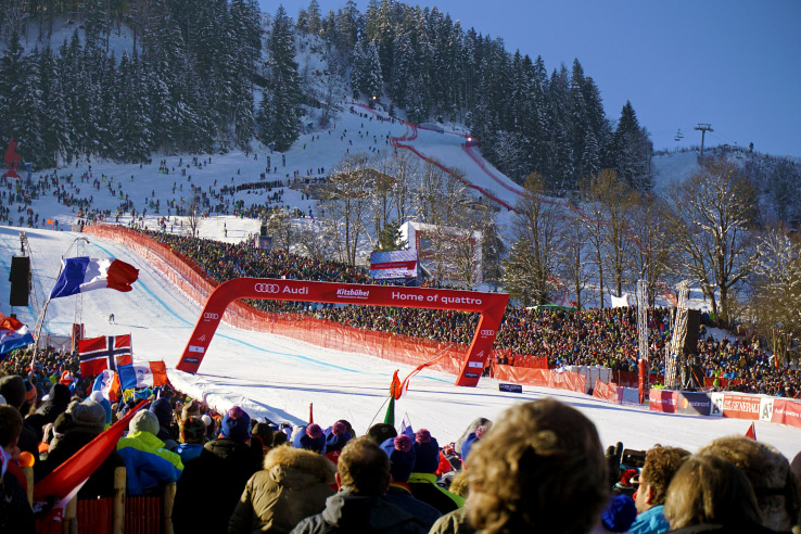 Surviving Europe: Hahnenkamm World Cup Ski Race in Kitzbuhel Austria - Finish Line