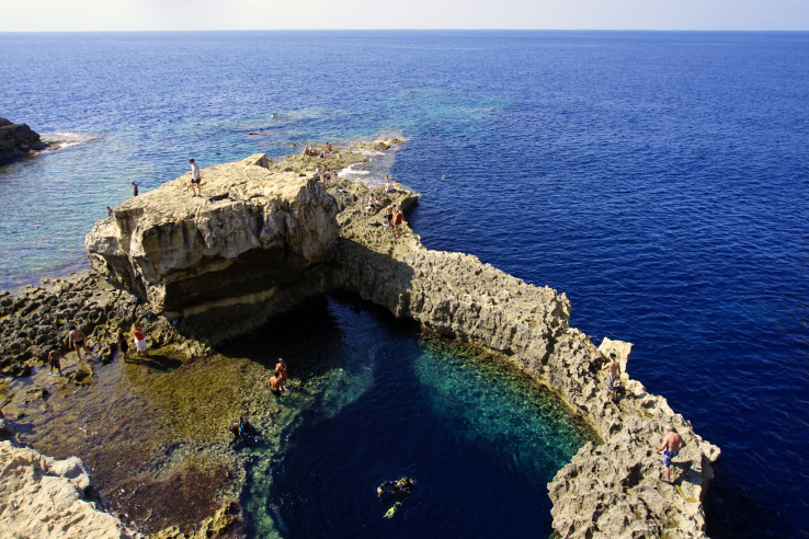 Surviving Europe: In Memory of the Azure Window in Gozo Malta - Blue Hole