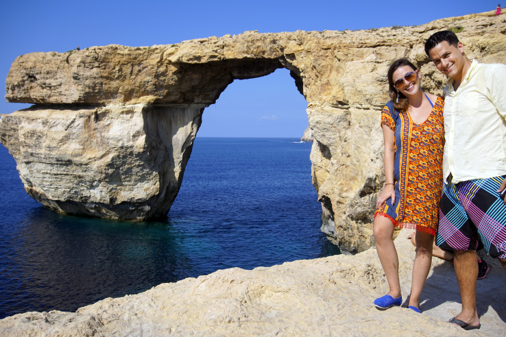 Surviving Europe: In Memory of the Azure Window in Gozo Malta - Us at Azure Window