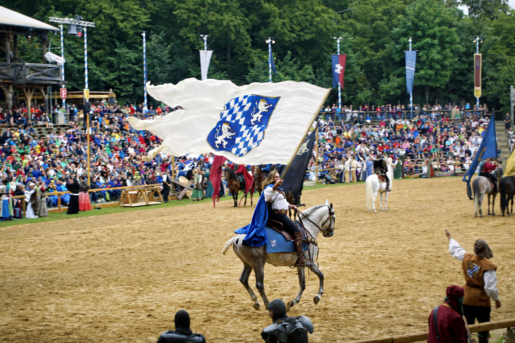 Surviving Europe: Kaltenberger Ritterturnier: Largest Jousting Tournament in the World - Bavarian flag