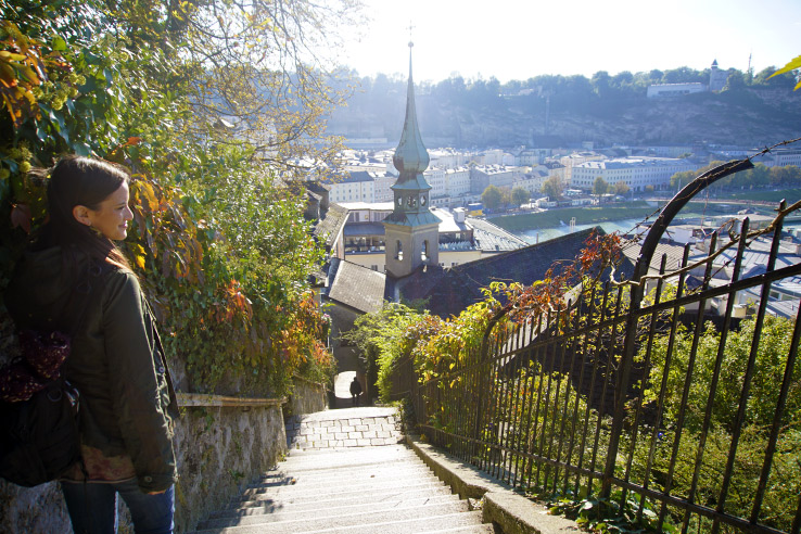 Surviving Europe: How to Keep the Momentum Going After 2 Years of Living Abroad - Erin overlooks Salzburg