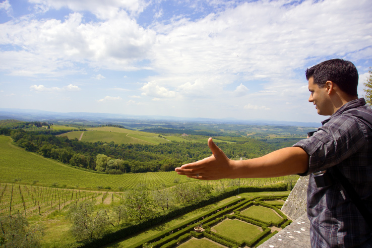 Surviving Europe: How to Keep the Momentum Going After 2 Years of Living Abroad - Erin overlooks Chianti