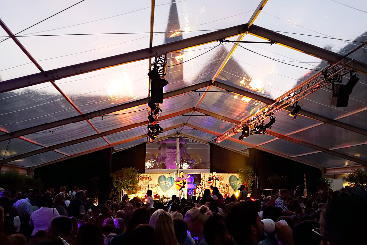 Surviving Europe: St. Rupert's Fair The Biggest Traditional Festival in Salzburg - Music Tent