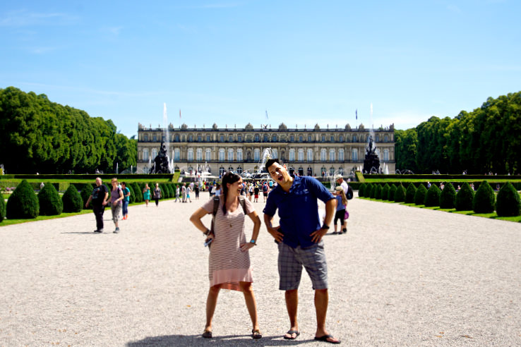 Surviving Europe: Moving Back - Buying Our Return Flight to a New Adventure - Us at Herrenchiemsee