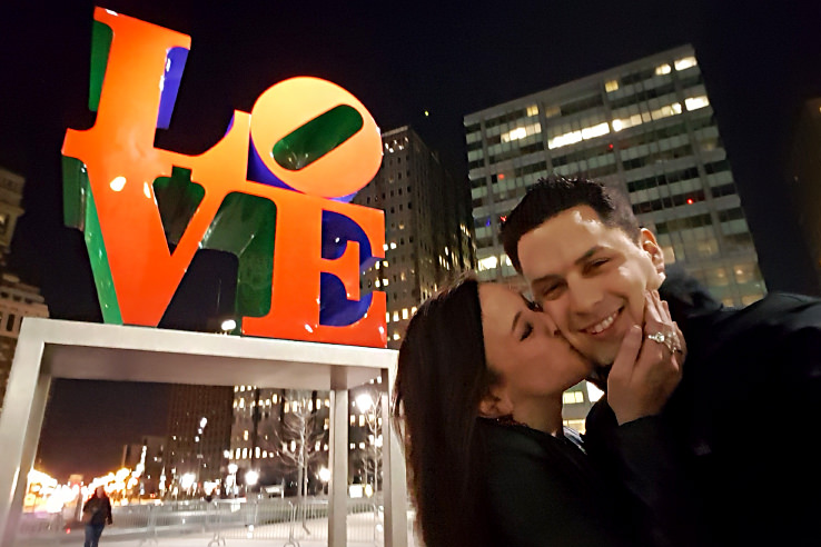 Surviving Europe: Expat Life 6 Months After Moving Back to the USA - Us at Love Park